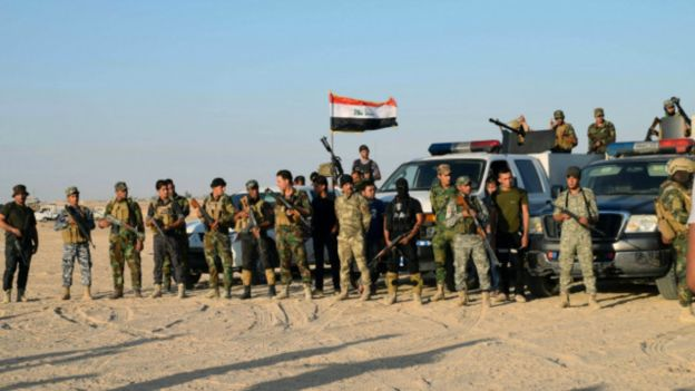 इराकी  सुरक्षा बल फालुजा सहर प्रवेश