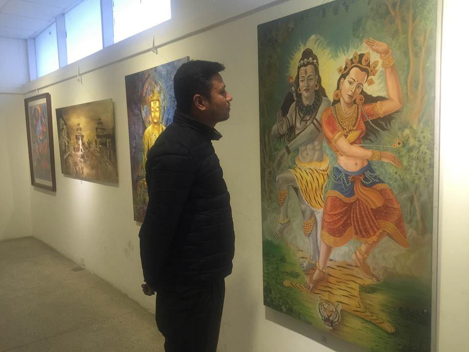 सबै पुस्ताका कलाकारलाई समेटेर कला प्रदर्शनी