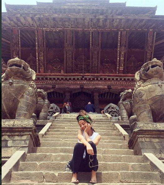 ब्रिटिस अभिनेत्री नेपालमा, भन्छिन् अन्तिम समय नेपाल मै विताउन चाहन्छु