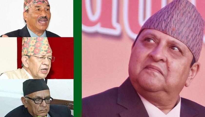 तीन राप्रपाका नेतासँग पूर्वराजाको छलफल, नेताहरूले भने– सरकार ! एउटै राप्रपा बनाउनुपर्यो