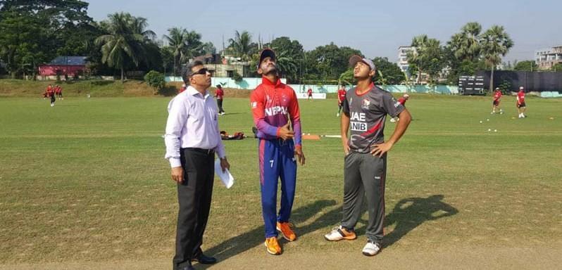 एसिया कप क्रिकेटः तेस्रो खेलमा नेपालले यूएइलाई ३ विकेटले हरायो