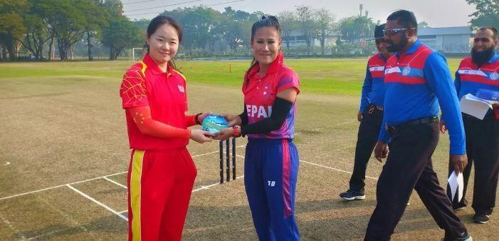 महिला क्रिकेट : चीनमाथि नेपालको शानदार जित, १० विकेटले पराजित
