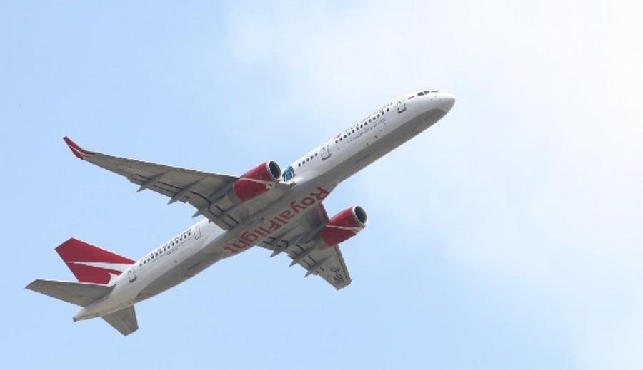 काठमाडौंबाट १ सय १० जना रुसी नागरिक बोकेर मस्को उड्यो रोयल फ्लाइट