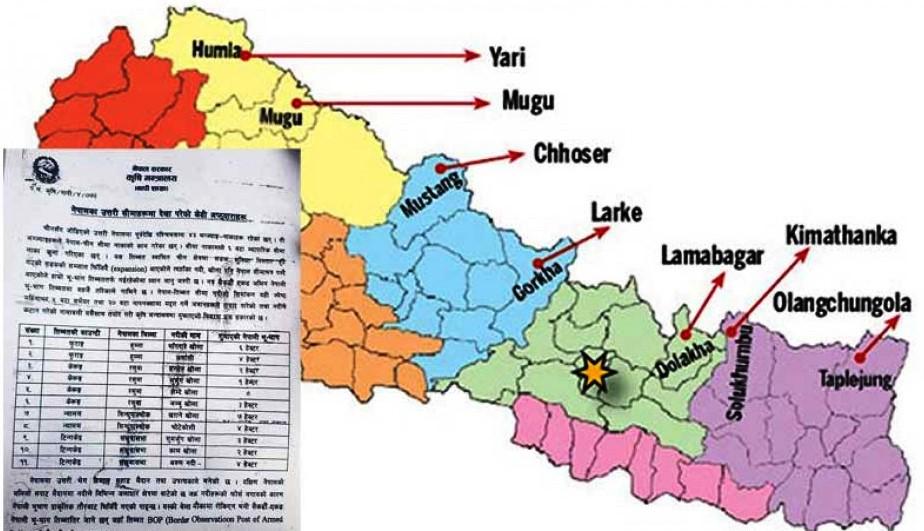 चीनले नेपालका चार जिल्लामा ३६ हेक्टर भू–भाग मिचेको तथ्य सार्वजनिक