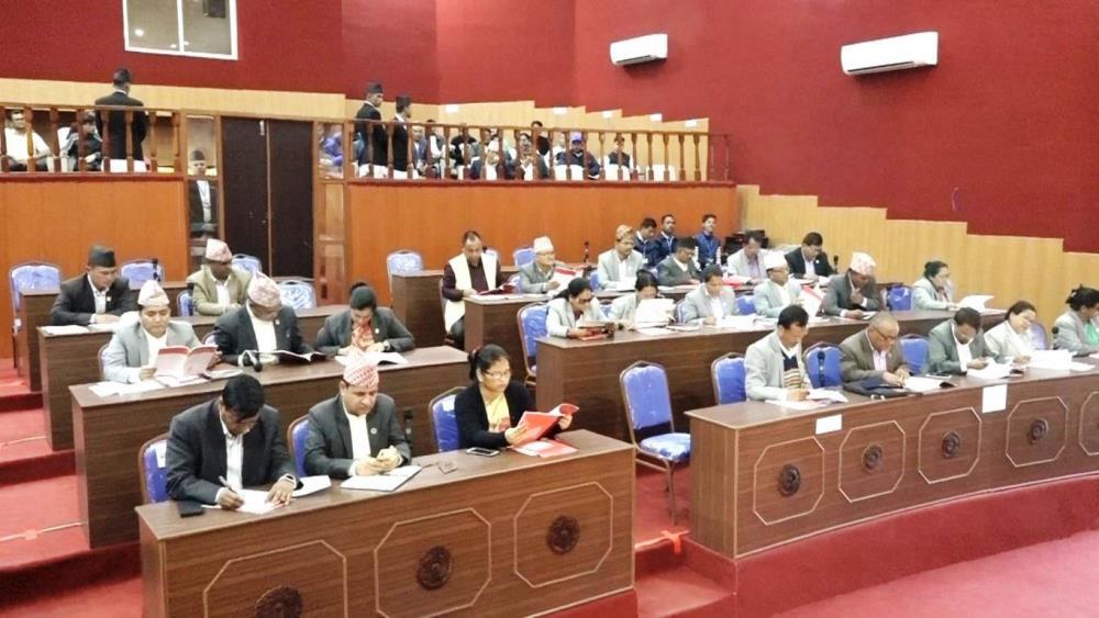 कर्णाली प्रदेश विनियोजन विधेयक प्रदेशसभामा प्रस्तुत, रुकुम पश्चिम घटनाको छानबिनका लागि उच्चस्तरीय समिति गठन गर्न