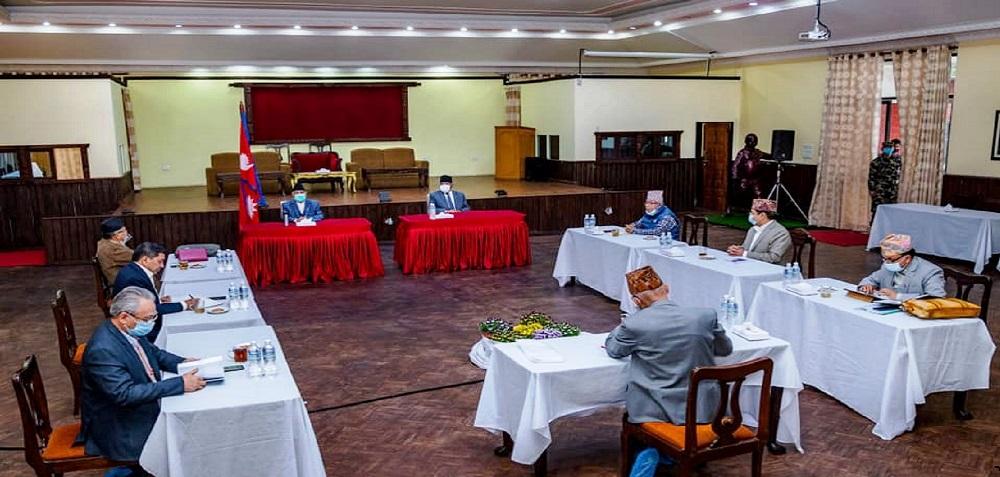 बालुवाटारमा नेकपा सचिवालयको अनौपचारिक बैठक
