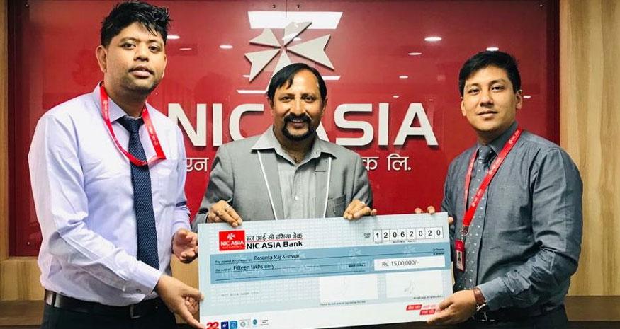 एनआईसी एसिया बैंकद्वारा ३० लाख बीमा दाबी रकम भुक्तानी