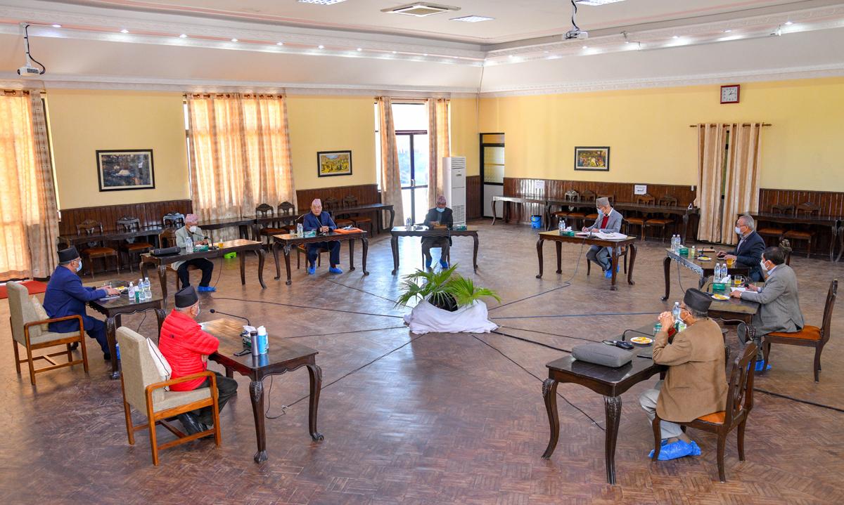 ओलीसहित नेकपा सचिवालय बैठक बालुवाटारमा सुरु