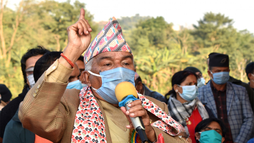 कम्युनिष्ट प्रति रामचन्द्र पौडेलेको ब्यंग्य : पाडो खानेले बाच्छो राख्दैन