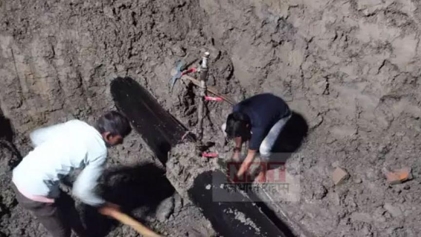 अमलेखगन्ज आउने पेट्रोलियम पाइपलाइन काटेर भारतमै डिजल चोरी