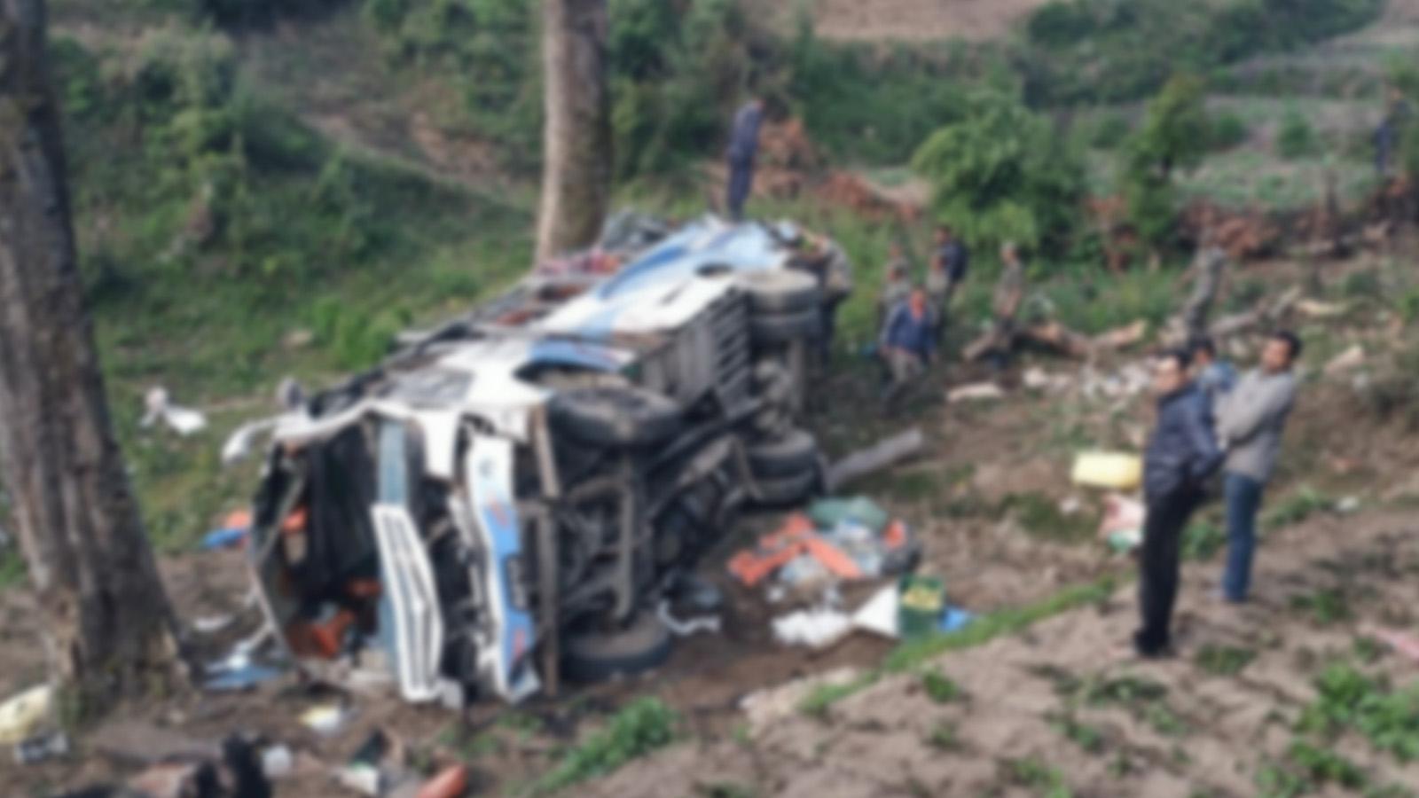 मुगुमा यात्रु बस दुर्घटनाहुँदा २२ जनाको को मृत्यु
