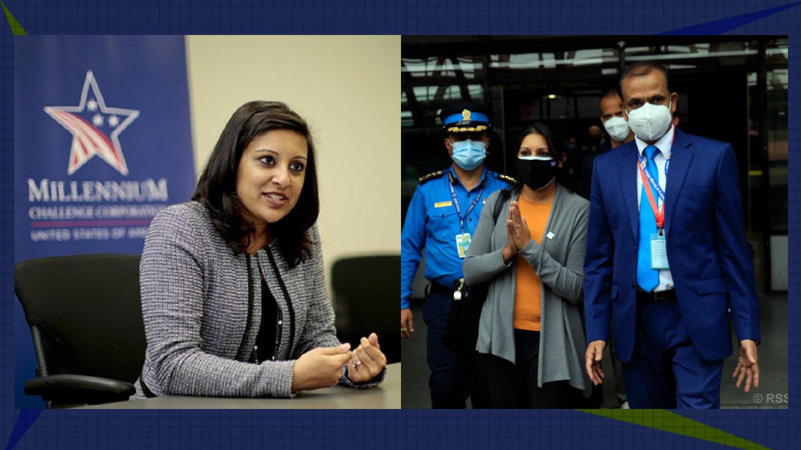 प्रधानमन्त्री र प्रचण्डभन्दा पहिला ओलीलाई भेट्दै एमसीसी उपाध्यक्ष फातिमा सुमार