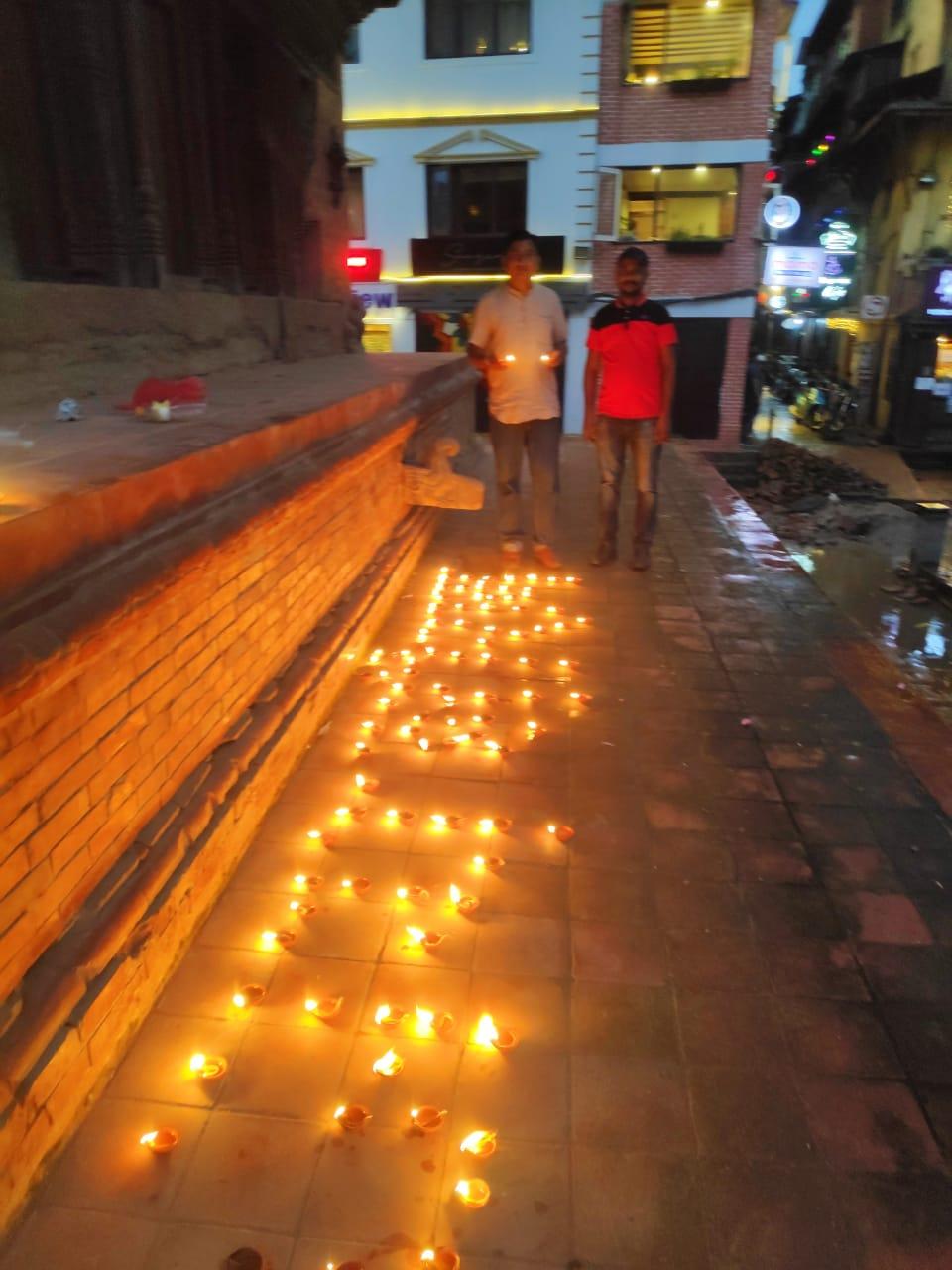 राम मन्दिर शिलान्यासको अबसर नेपालको विभिन्न जिल्लामा दीप उत्सब