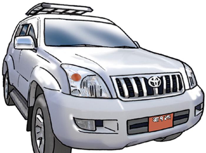 सरकारी सवारीमा कर्मचारीको दाइँ, एक अधिकृतलाई दुई गाडी