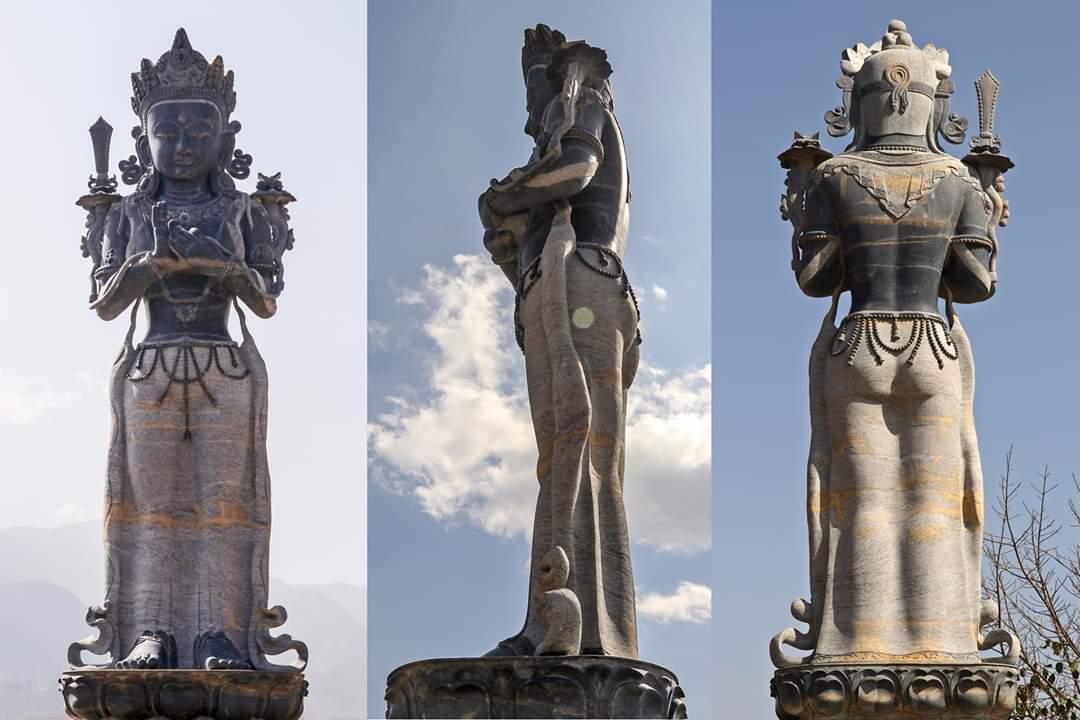 काठमाडौंको पानी बाहिर निकालेर बस्ती बसाउने मञ्जुश्रीको मूर्ति किन राखियो चोभारमा ?