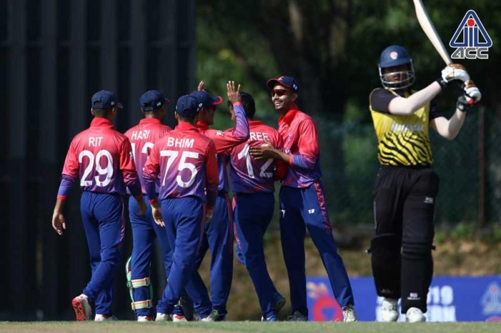 नेपाल एसीसी यू १९ पूर्व क्षेत्र क्रिकेटको फाइनलमा, मलेशिया ७ विकेटले पराजित