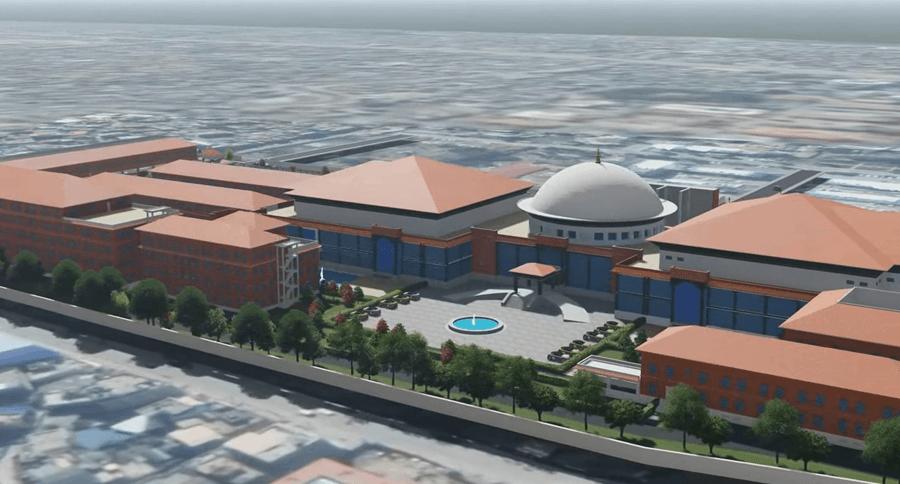 अब सिंहदरबारभित्रै परम्परागत शैलीका आधुनिक भवन बन्ने