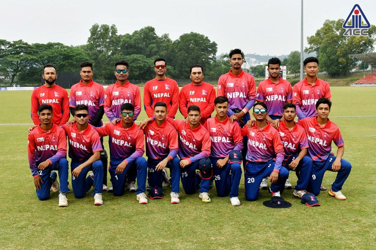 एसीसी यु–१९ इस्टर्न रिजन क्रिकेट :५ ओभरमैँ नेपाल विजयी
