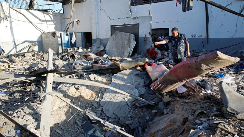 लिबियामा हवाइ आक्रमण, ४० आप्रवासी मारिए