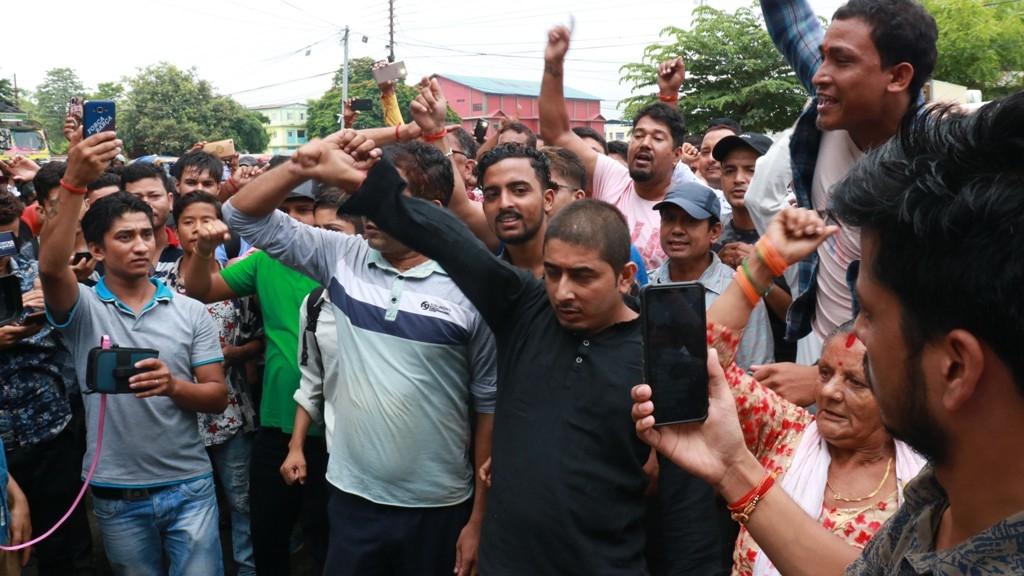 रवि लामिछानेको रिहाईको माग गर्दै प्रदर्शन