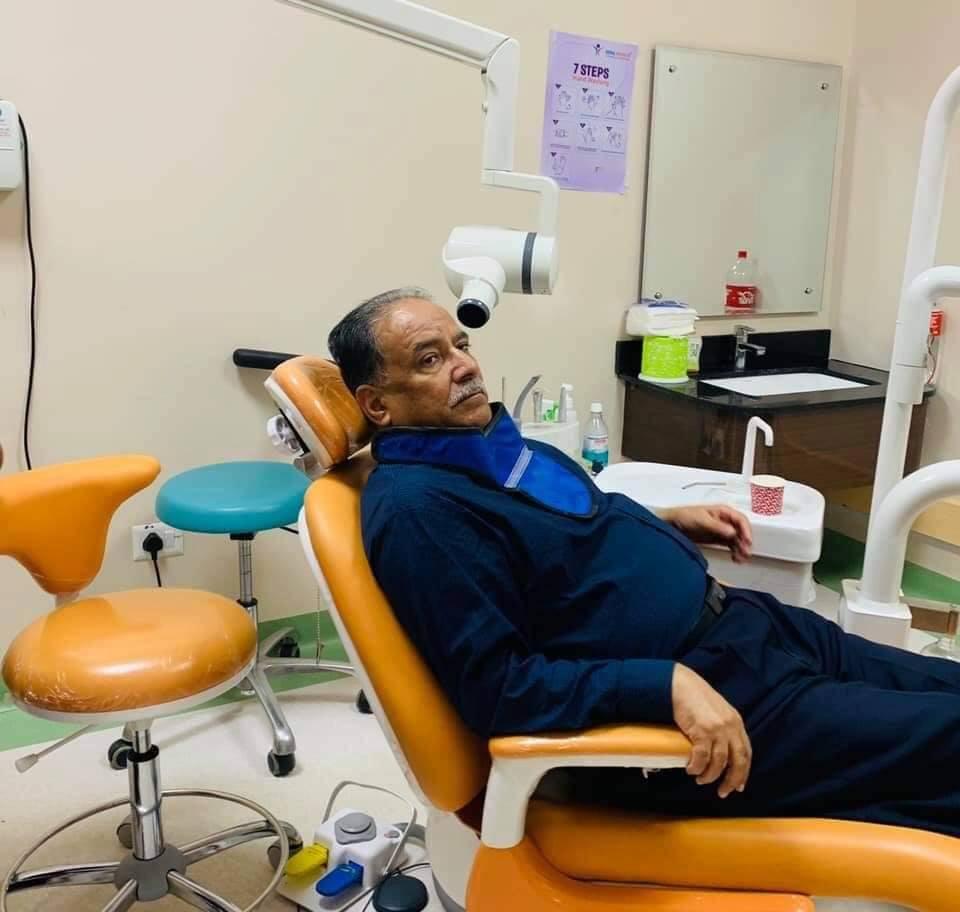 प्रचण्डलाई दाँतको समस्या, उपचारका लागि मेडिसिटी अस्पतालमा