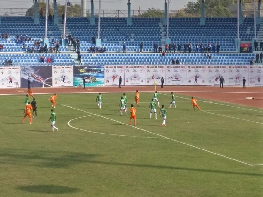 १३ औ दक्षिण एसियाली खेलकुद फुटबलः भूटानद्वारा बंगलादेश पराजित