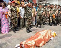 सेनाको सम्मानसहित कोरोना सङ्क्रमितको शव व्यस्थापन