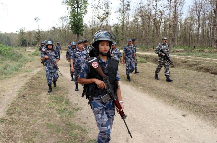 सीमा क्षेत्रको सुरक्षाका लागि नेपाल–भारत सीमामा संयुक्त गस्ती