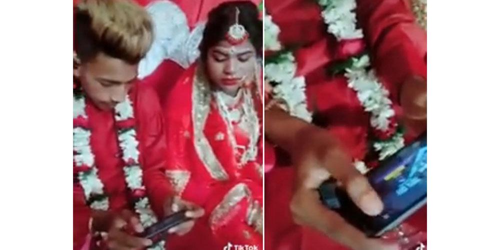 विवाह मण्डपमै पब्जीमा व्यस्त बेहुला, भिडियो भाइरल