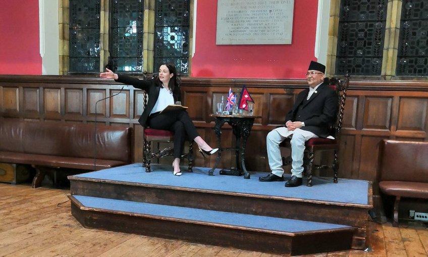 प्रधानमन्त्रीद्वारा अक्सफोर्ड विश्वविद्यालय युनियनलाई सम्बोधन