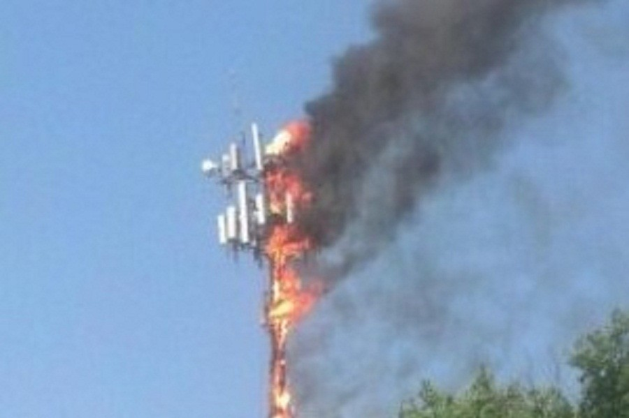 अज्ञात समूहद्वारा एनसेलको टावरमा आगजनी