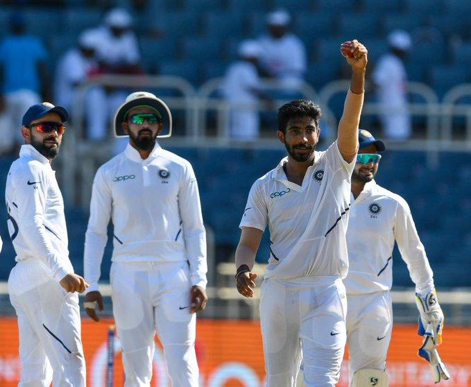 वेस्ट इन्डिजविरुद्ध बुमराहले लिए ह्याट्रिक विकेट, भारत बलियो अवस्थामा