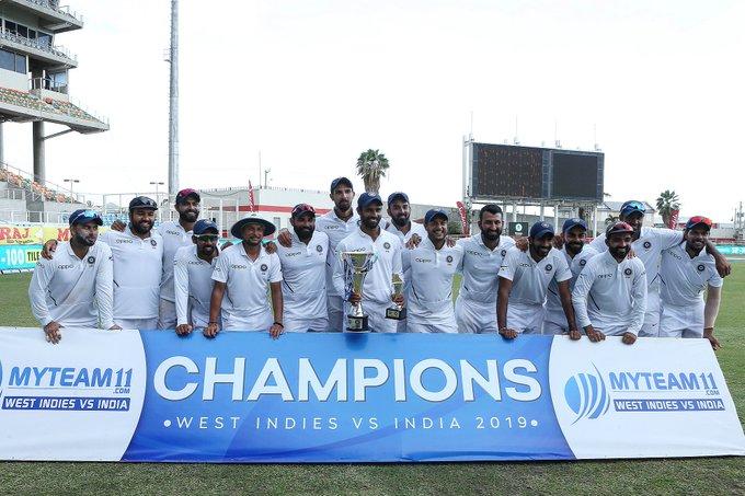 वेस्ट इन्डिजसँगको 'टेस्ट सिरिज' पनि भारतले जित्यो