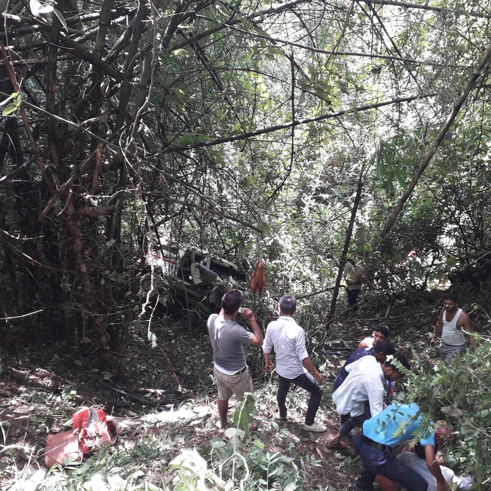 स्याङजामा जीप दुर्घटना, दुई जनाकोमृत्यु