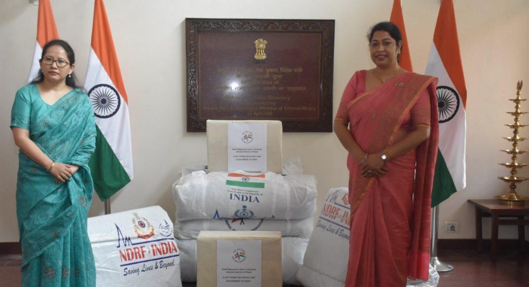 बाढी प्रभावित जिल्लाका लागि भारतले उपलब्ध गरायो आपतकालिन राहत सामाग्री