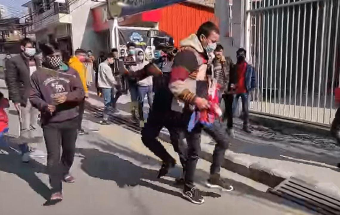 चिनियाँ दूतावास अगाडि प्रदर्शन, १७ जना पक्राउ