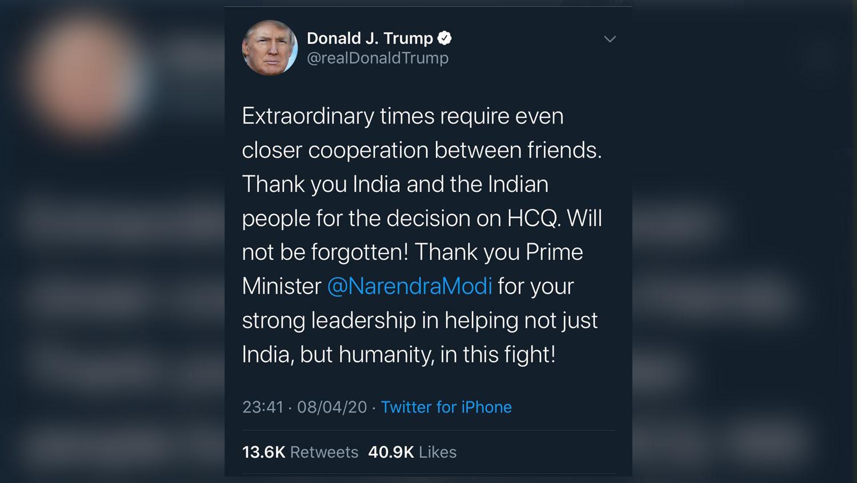 अमेरिकी राष्ट्रपतिद्वारा भारतीय प्रधानमन्त्री मोदीको तारिफ